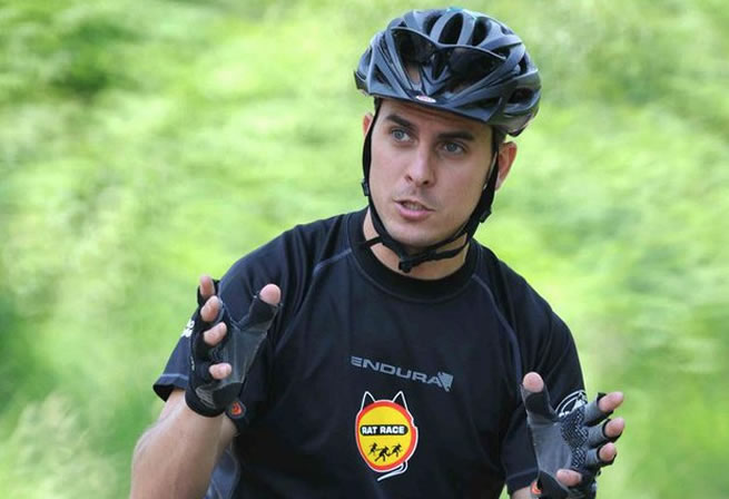 Gary coaching mountain bike skills